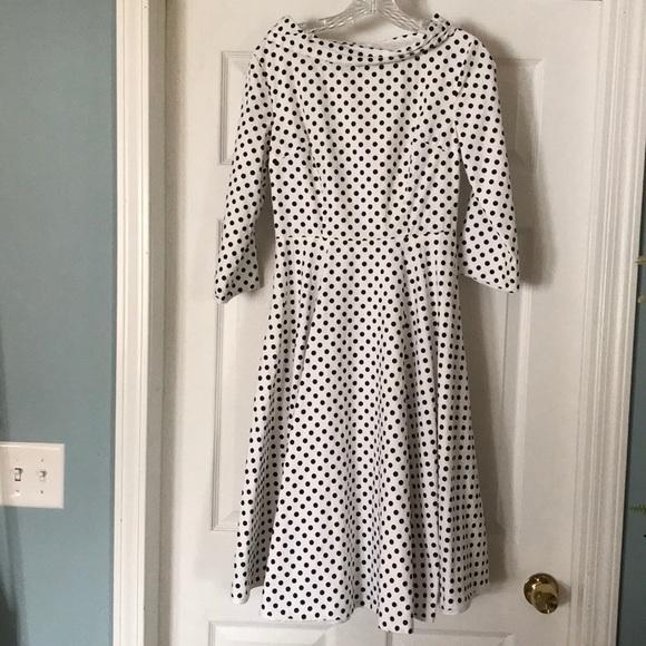 d6019889f7 Apostolic Clothing Dresses | Polka Dot Midi Dress Size S | Poshmark